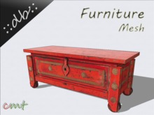 ::db furniture:: Antique red wooden chest