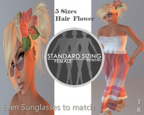 *TR* Shade of Summer (sunrise)Shade of Summer in Pink Highlight Rigged 5 standard sizes Mesh Sundress, Sunglasses, clip