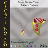 *GW* Golden Burning torch necklace - LudoVica