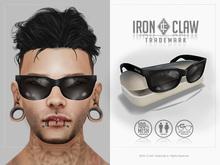 [IC] MESH 80s Custom SunGlasses .::Black::. UNISEX