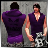 {B}BADBOY HOODY PURPLE*