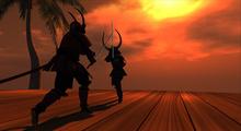 Samurai Pair Pose