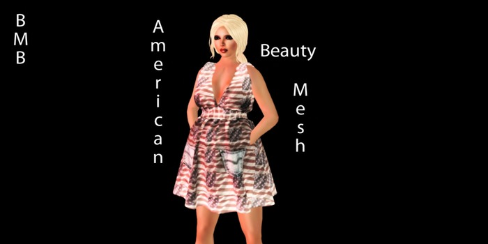 BMB 4th of July  MEsh Maternity dress Pregnancy