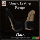 ::Duh!:: Classic Leather Pump - Black