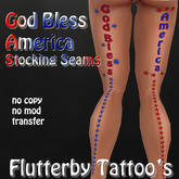 God Bless America (stocking seams) - 4th of July