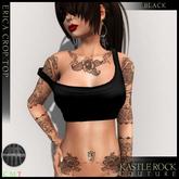 :KR: Erica Crop Top - Black