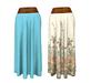 Boho maxi skirt with belt 1