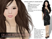 Complete female Asian avatar, skin and shape, clothes and shoes (DEMO)