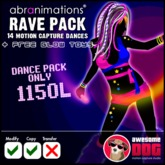 * Rave Dance Pack - 14 mocap dances *