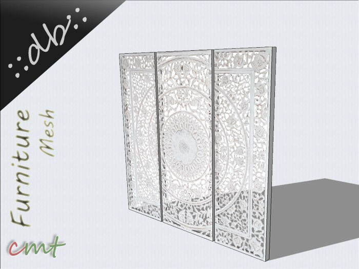 ::db furniture:: White Transparent Picture Wall Decoration