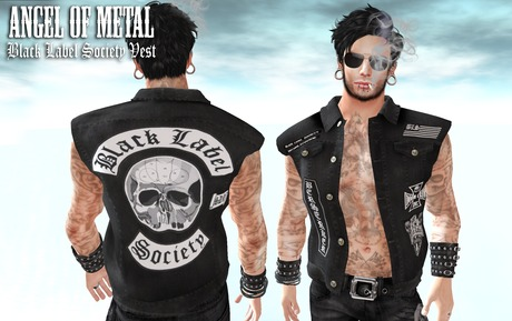 Second Life Marketplace Angel Of Metal Black Label Society Vest Male
