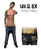 Mesh Mens Low Slung Jeans +Boxers + Wallet SUPERMAN