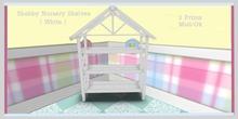 Shabby Nursery shelves 2 ( white )