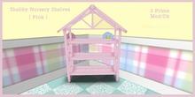 Shabby  Nursery shelves 2 ( Pink                            k )