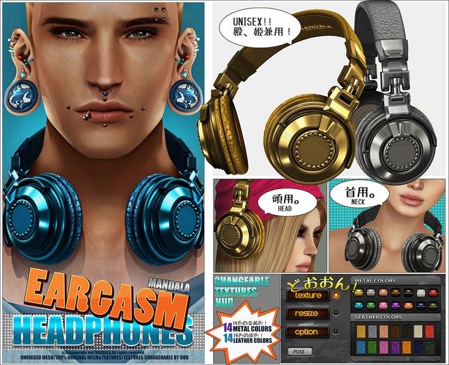 Unisex[MANDALA]EARGASM Headphones