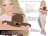 Complete child avatar, Little girl Lykke with modifiable shape, skin, hair, clothes, eyes, teddybear and SMB appliers