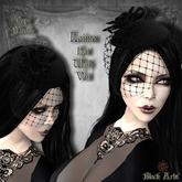 ~Black Arts~Laima Mesh Hat with Veil Black
