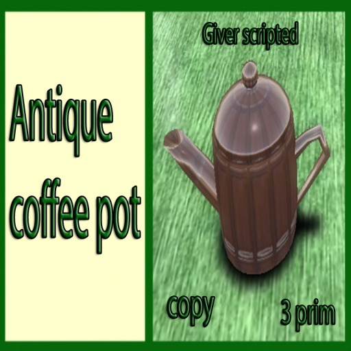 antique  coffee giver