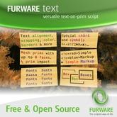 FURWARE text v2.0 Beta (Developer Version) - Text on prims with a single script