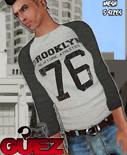 !-GUEZ-! -GIFT-  Grey Sleeve Shirt
