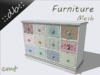 ::db furniture:: Beautiful vintage patchwork Cabinet
