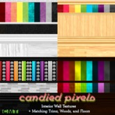 Candied Pixels Wall Textures + Matching Floor Fatpack 1-4