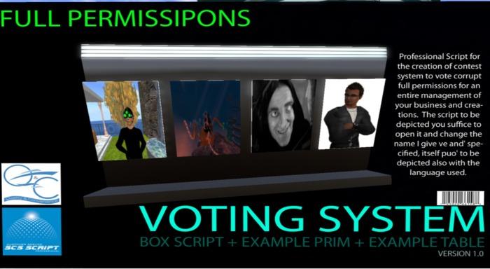 SCS SCRIPT - VOTING SYSTEM - vote script full perm- 3 script + example