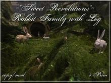 ~*SR*~ Rabbit Family with Log MESH Box
