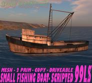 OLD FISHING BOAT - SCRIPTED