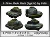 1 Prim Mesh Rock (typ1c) by Felix = 5x5x3m copy-mody