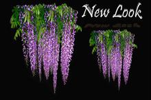 Princess Mesh Hanging Purple Wisteria 1 LI - with Resizer and Fullbright Option