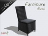 ::db furniture:: High backboard rattan chair black