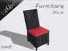 ::db furniture:: High backboard rattan chair black / red