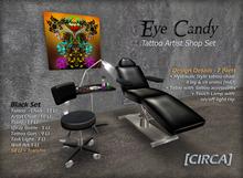 "[CIRCA] - ""Eye Candy"" Tattoo Artist Shop Set - in Black"