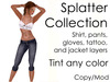 Blood, oil, or mud splatter collection (tintable) *reduced price*