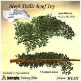 full perm Mesh Trellis Roof Ivy 1 prim full perm