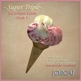[CIRCA] - Super Triple - Ice Cream Cone - Pack 1