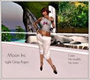 DEMO - *:*:* Moon Inc *:*:*  - Light grey kapri pants