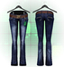 :{F.A.D.}: Bailey Flare Jeans Dark Blue