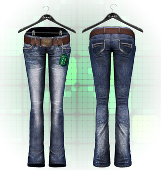 :{F.A.D.}: Bailey Flare Jeans Blue