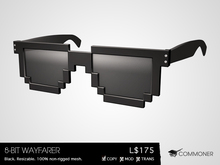 [Commoner] 8-Bit Wayfarer / Black