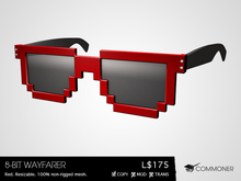 [Commoner] 8-Bit Wayfarer / Red (wear)