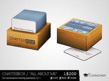 """[Commoner] Chatterbox / """"All About Me"""" Edition"""