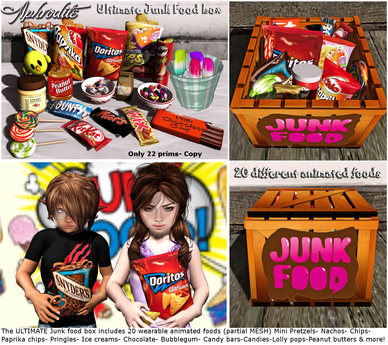 """Aphrodite """"Junk food"""" box care package for kids"""