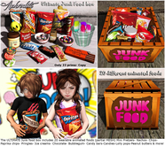 "Aphrodite ""Junk food"" box care package for kids"