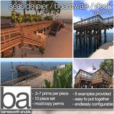 [ba] seaside pier / boardwalk / dock kit - packaged