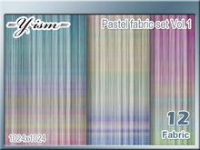 Summer Pastel fabric set