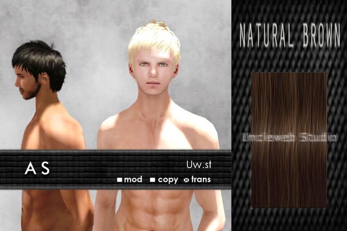 Uw.st   As-Hair  Natural brown