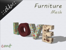 ::db furniture:: Decorative Letters Love