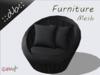 ::db furniture:: Round Garden Rattan Chair with Pillows